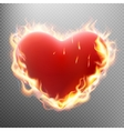 Vlentine s day concept Heart in flame EPS 10