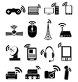 Wireless technology icons set vector image vector image