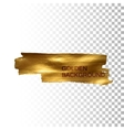 Golden paint stain banner vector image