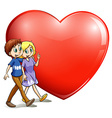 A loving couple vector image vector image