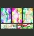 aayurveda brochure templates and horizontal vector image