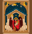 adoration magi mary and jesus vector image
