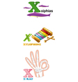 alphabet letter - X vector image