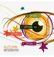 Autumn option infographics and human eye vector image vector image