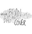 bean bag cover text word cloud concept vector image vector image