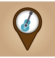 blue guitar vintage background icon vector image vector image