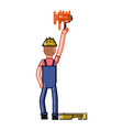 builder paint a wall vector image vector image