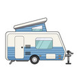 camping trailer icon travel and vacation family vector image
