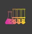 chemistry icon on a black background in flat style vector image