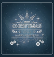 christmas and new year 2018 stamp vintage style vector image