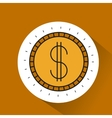 coin gold money icon vector image