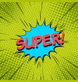 comic bright dynamic template vector image vector image