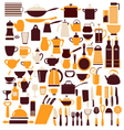 cooking equipment cooking utensils vector image vector image