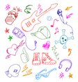 cool doodles vector image