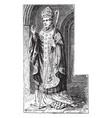 costume of a bishop 12th century vintage vector image vector image