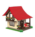 cozy little house vector image vector image