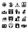 democracy election icon vector image vector image