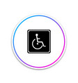 disabled handicap icon isolated on white vector image vector image