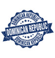 dominican republic round ribbon seal vector image vector image