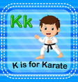 flashcard letter k is for karate vector image