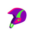 flat style skiing snowboarding plastic helmet vector image vector image