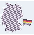 germany map isolated icon vector image vector image