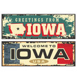 greetings from iowa vector image