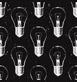 grunge seamless pattern with light bulbs modern vector image