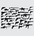 gun pistol weapon silhouette vector image