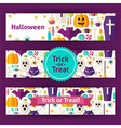 halloween trick or treat template banners set vector image