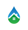 home waterdrop style logo vector image
