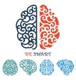 Human Brain logo or thinking label vector image vector image