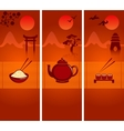 Japanese culture banners or bookmarks collection vector image vector image