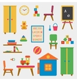 Kindergarten preschool playground vector image vector image