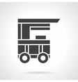 Kiosk on wheels black glyph style icon vector image vector image