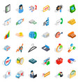letter icons set isometric style vector image vector image