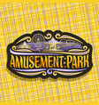 logo for amusement park vector image