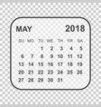 may 2018 calendar calendar planner design vector image