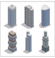 Modern Skyscrapers Isometric Building Construction vector image vector image