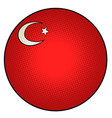 national flag turkey vector image