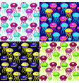 nautic seamless pattern with bright vector image