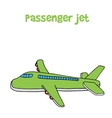 Passanger jet of cartoon design vector image