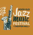 poster banner for a jazz music festival vector image vector image