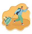 run fly man with bag vector image vector image