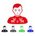 sad deers pullover boy icon vector image vector image