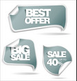 sale labels 2 vector image vector image