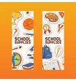 school supplies education schooling vector image