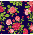 Seamless floral pattern with red and pink roses vector image vector image