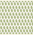 seamless pattern green leaves on light background vector image