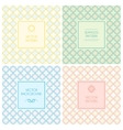 seamless patterns with labels and text vector image vector image